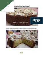 Torta de Coco [GRATINADA]