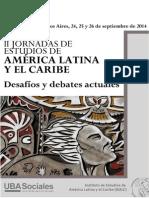 II JORNADAS DE ESTUDIOS DE AMÉRICA LATINA Y EL CARIBE