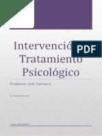 Apuntes Definitivos Intervención y Tratamiento Psicológico