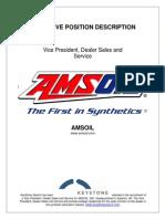 Executuve Position Profile - VP Dealer Sales - AMSOIL