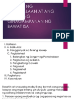 Sangay Ng Pamahalaan at Ang Bahaging Ginagampanan Ng