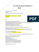 Actualizar La Red Con Que Contamos a IPv6