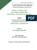 M.C. Enrique Ruiz Díaz - Diseño y Construcción de un Portal Empresarial utilizando la Tecnología de Portlets.