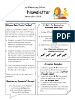 1st quarter newsletter for families