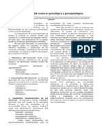 Clasificación Del Vivenciar Psicológico y Psicopatológico