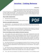 Public Administration- Linking Between Topics