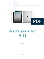 EDIT 705 Instructional Design Document iPad Tutorial