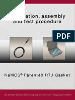 Installation procedure Kamos rtj Gasket