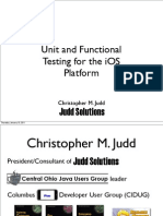 Unit and Functional Testing for Ios Platform