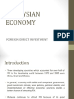Foreign Direct Investment -Malaysian Economy