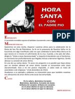 Hora Santa con el Padre Pío - 2014