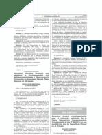 Decreto Supremo N° 010-2014-TR - Aprueban normas complementarias para la adecuada aplicación de la Única Disposición Complementaria Transitoria de la Ley N° 30222