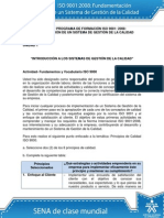Actividad de Aprendizaje - Fundamentos y Vocabulario ISO 9000