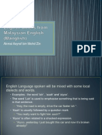 How Standard English Differs From Malaysian English