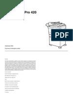 Xerox WorkCentre Pro 420 Service Manual
