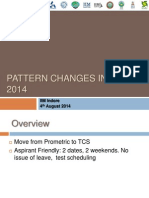 Pattern Changes in CAT 2014