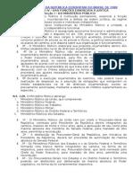 CF - 1988 - Função Essenciais à Justiça - MP