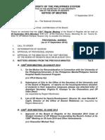 1301th BOR Meeting Provisional Agenda