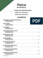 Física - Termofísica - Questões de Vestibulares de 2014