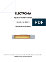 Manual Aquecedor Quartzo Electronia QH-1200B - 3126401