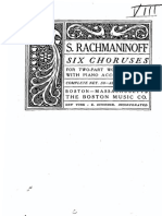 Rachmaninoff 6 Choruses (Angel)