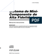 Manual Sony Fstzux9 Xtrancepro Es
