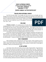 Bulletin - September 21, 2014 (Late DS)