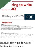 FRQ Pre-writing & Charting