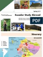 New Ecuador Study Abroad