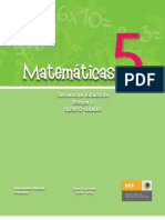 Secuencias Didácticas Matemáticas. Quinto Grado. Bloque I