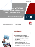 OptiX RTN 900 V001R002 Ethernet Service Planning and Design Guide-20100114-A