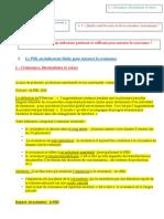 Thème 111- FICHE PIB Complétée Croissance, Fluctations Et Crises