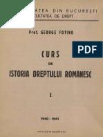 George Fotino - Istoria Dreptului Romanesc