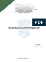 Maestria Luz- Aplicacion Procedimiento Oral en Tribunales Civiles de Municipio Ciudad de Maracaibo