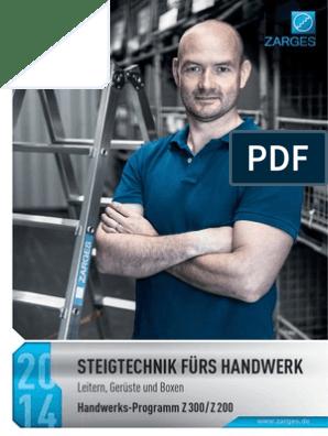ZARGES Kombi-Steh-Schiebeleiter 2 x 8 Sprossen Z 300