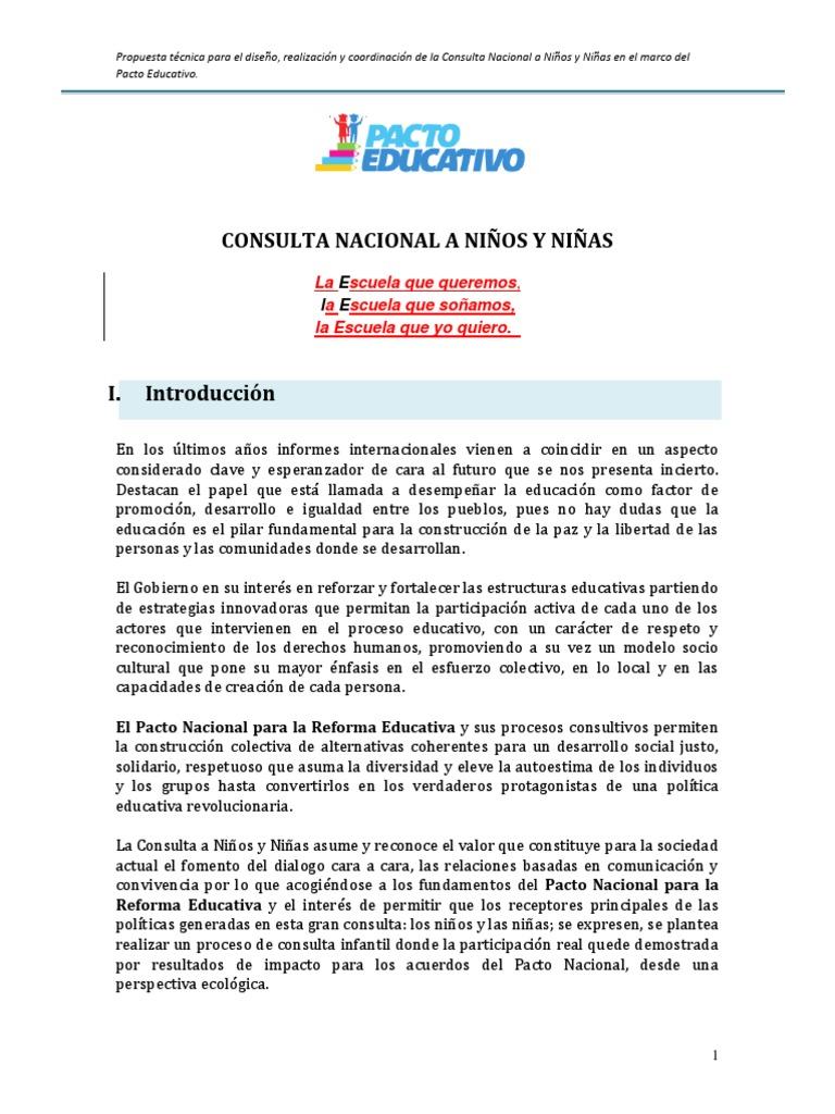 Consulta Nacional a Niños y Niñas
