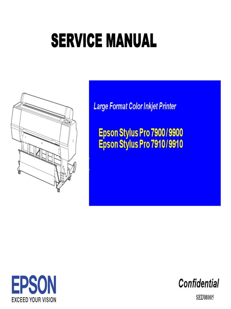 EPSON 7900 _9900_7910_9910 Service Manual (ebook)-1.pdf | Printer  (Computing) | Paper