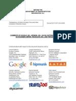 COMMENTS OF GOOGLE, INC., HIPMUNK, INC., KAYAK SOFTWARE CORPORATION,  SKYSCANNER LIMITED, TRAVELZOO, INC., AND TRIPADVISOR LLC