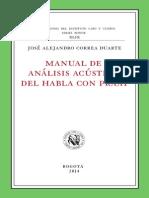 Manual de Análisis Acústico Del Habla Con Praat Correa Alejandro Mayo 2 2014