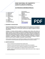 Silabo Procesos Agroindustriales