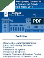 Presupuesto 2014 Tres