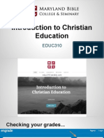 educ310  intro to christian education 3