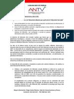 Comunicacdo de Prensa ANTV