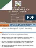 Marketing Finance