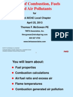 Basics of Combustion, Fuels and Air Pollutants
