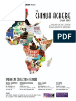 Chinua Achebe Lecture Series Poster