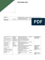 PLAN ANUAL 2014 -5° basico Segundo ciclo