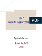 Topic 2 - Cortex M3 Processor - Software Tips