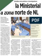 22-09-2014 Vuelve la ministerial a zona norte de NL
