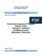 Combined Assessment Program Review of the Clement J. Zablocki VA Medical Center Milwaukee, Wisconsin